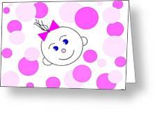 Bouncing Baby Girl Greeting Card