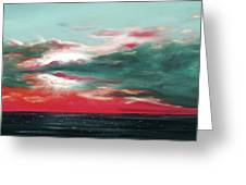 Bound Of Glory - Panoramic Sunset  Greeting Card