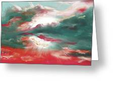 Bound Of Glory 2 - Square Sunset Painting Greeting Card by Gina De Gorna