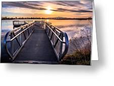 Bountiful Lake Pier Greeting Card