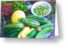 Bounty Of Yummy Veggies Greeting Card