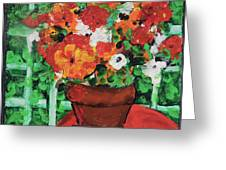 Bouquet A Day Floral Painting Original 59.00 By Elaine Elliott Greeting Card