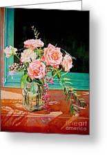 Bouquet De Roses - Marrakech Greeting Card