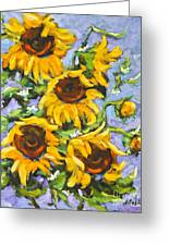 Bouquet Del Sol Sunflowers Greeting Card