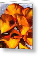 Bouquet Of Calla Lilies Greeting Card