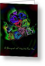 Bouquet Of Hearts Greeting Card