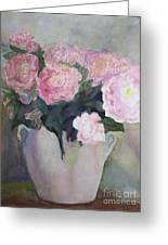 Bouquet Of Pink Peonies Greeting Card