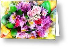 Bouquet Of Purple Greeting Card
