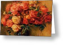 Bouquet Of Roses 1900 Greeting Card