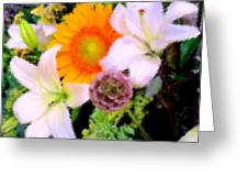 Bouquet Softly There Greeting Card