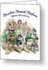 Bourbon French Perfume Greeting Card