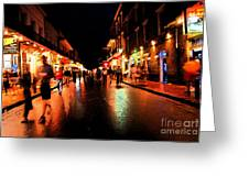 Bourbon Street At Dusk Greeting Card