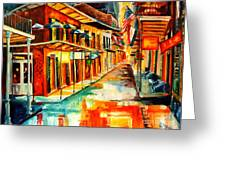 Bourbon Street Blitz Greeting Card