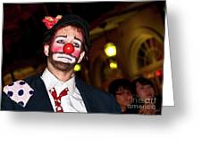 Bourbon Street Clown Mime Greeting Card