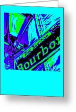 Bourbon Street In Blue Greeting Card