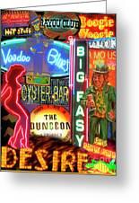 Bourbon Street Neon Greeting Card
