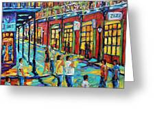 Bourbon Street New Orleans By Prankearts Greeting Card