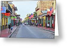 Bourbon Street - New Orleans Louisianna Greeting Card
