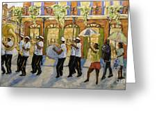 Bourbon Street Second Line New Orleans Greeting Card