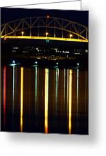 Bourne Bridge At Night Cape Cod Greeting Card