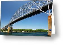 Bourne Bridge  Cape Cod Greeting Card by Mark Wiley