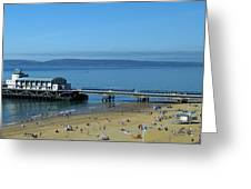 Bournemouth Pier Dorset - May 2010 Greeting Card
