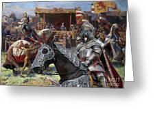 Bouvier Des Flandres - Flandres Cattle Dog Art Canvas Print - Knights Tournir Greeting Card