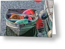Bouys In A Boat Greeting Card