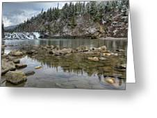 Bow Falls On A Spring Like Day Greeting Card