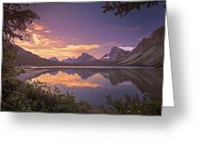 Bow Lake At Dawn Greeting Card