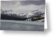 Bow Lake In Banff Np Greeting Card