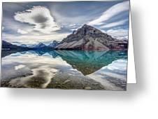 Bow Lake Sky Greeting Card