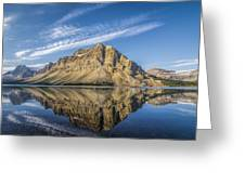 Bow Lake Sunrise Banff National Park Alberta  Canada  Greeting Card
