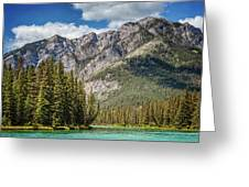 Bow River Banff Alberta Greeting Card