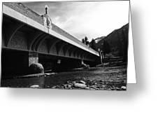 Bow River Bridge  Greeting Card
