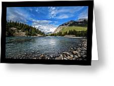 Bow River Alberta Greeting Card
