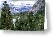 Bow River Valley In The Canadian Rockies Greeting Card