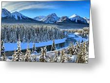 Bow River Valley View Greeting Card