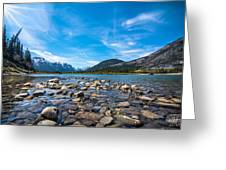 Bow Valley Campground Greeting Card by Adnan Bhatti