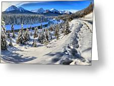 Bow Valley Mountains Greeting Card