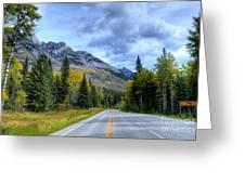 Bow Valley Parkway Banff National Park Alberta Canada Vi Greeting Card