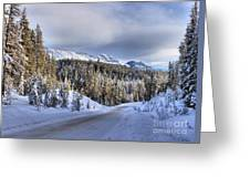 Bow Valley Parkway Winter Scenic Greeting Card