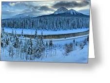 Bow Valley River Giant Panorama Greeting Card