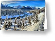 Bow Valley Winter View Greeting Card
