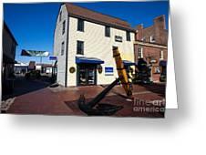 Bowen's Wharf Newport Rhode Island Greeting Card