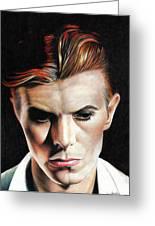 Bowie Thin White Duke Greeting Card
