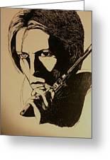Bowie's Got A Gun Greeting Card
