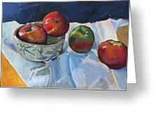 Bowl Of Apples Greeting Card