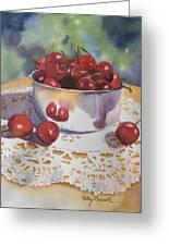 Bowl Of Cherries Greeting Card