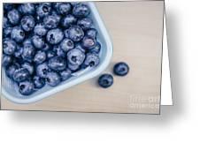 Bowl Of Fresh Blueberries Greeting Card